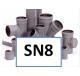 PVC hulpstukken SN8 Ø 110 t/m 200mm