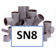 PVC hulpstukken SN8 Ø 250 t/m 630mm